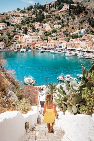 Symi Urlaub Hafen Ausflug Rhodos