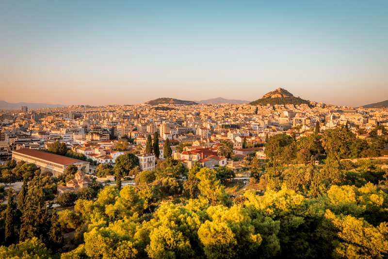 Athen Highlights pnyx hill sunset