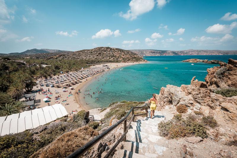 Kreta Schönste Strände Vai Strand Ausblick