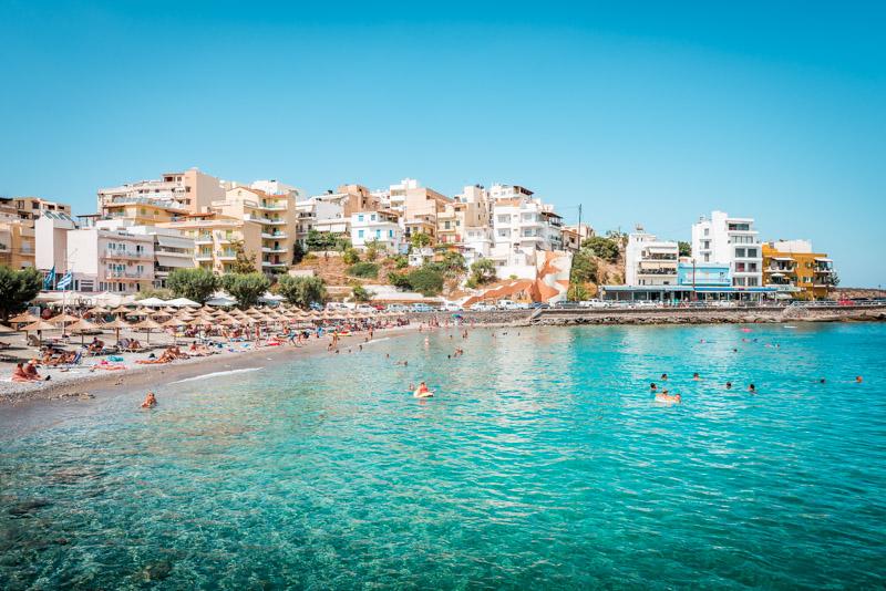 Agios Nikolaos Urlaub Kreta Strand