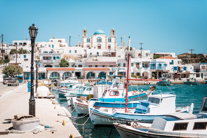 Lipsi Chora Hafen Dodekanes Inseln