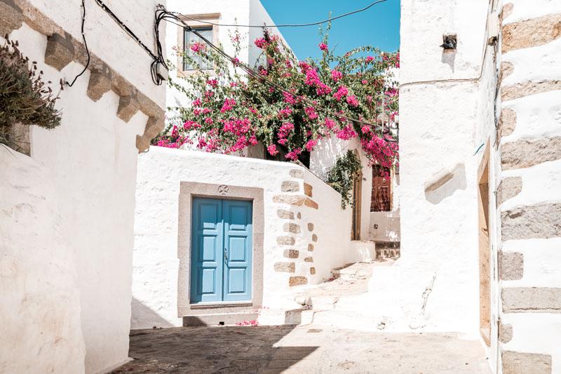 Patmos Chora Weiße Häuser Griechenland