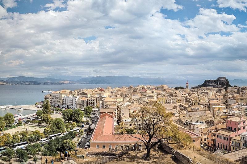 Corfu Stadt Kerkyra Korfu Urlaub