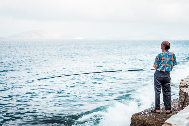 Griechenland Fischer Traditionelle Inseln Dodekanes