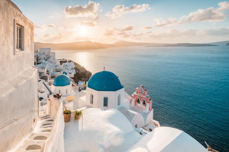 Inselhopping Kykladen Griechenland Santorini Sonnenaufgang