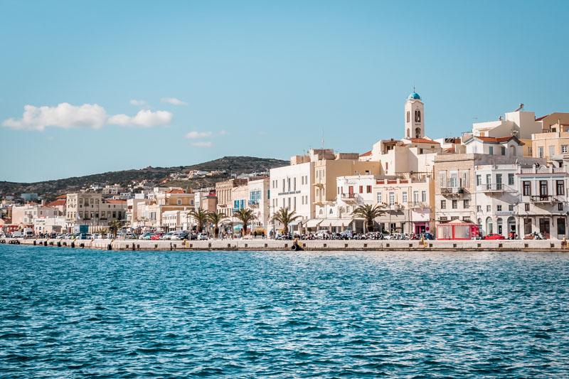 Kykladen Schönste Inseln Syros Griechenland Ermoupoli