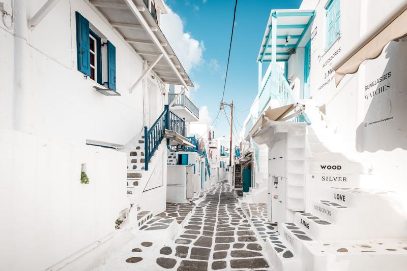 griechische inseln mykonos gassen