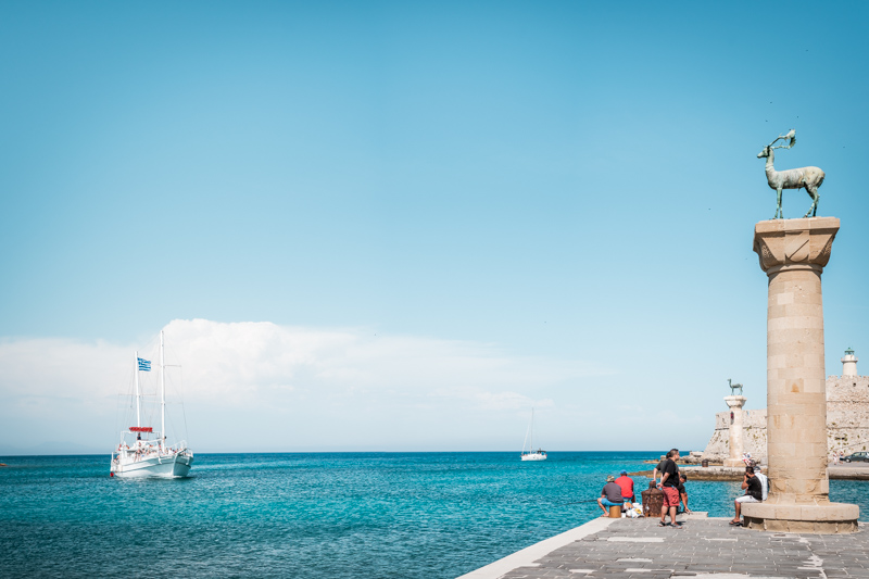 Mandraki Hafen Rhodos Stadt
