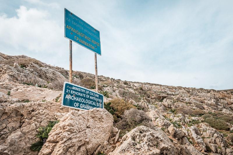 Syros Antike Stätte Grammata