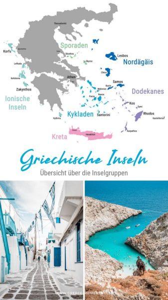 Kykladen Karte.Griechische Inseln übersicht Die Schönsten Inselgruppen Mit Karte
