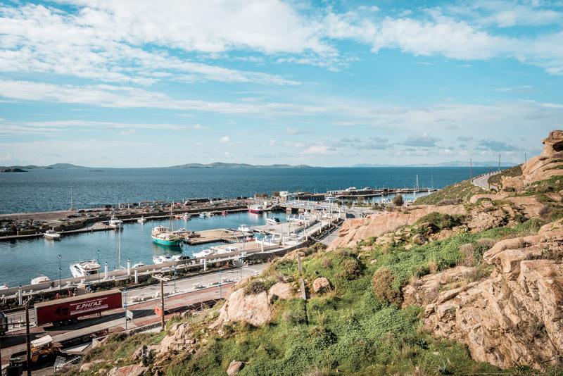 mykonos hafen new port