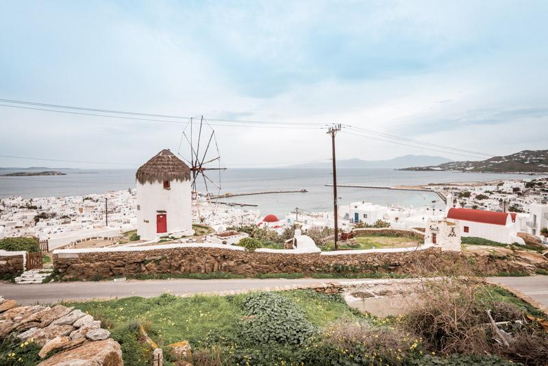 mykonos stadt windmühlen