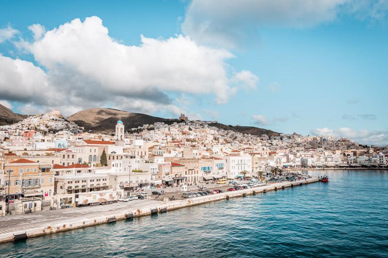 syros island ermoupolis port