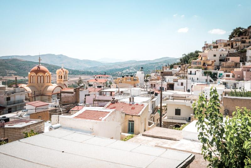 Kreta Bergdörfer Ausflüge Weiße Häuser