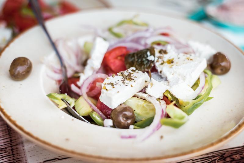 Kreta Essen Oliven Feta