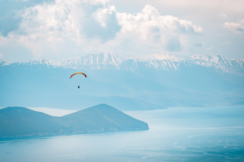 Paragliding prespa makedonien