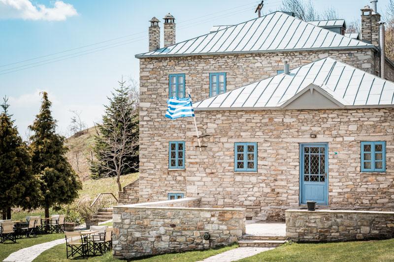 nymfaio steinhäuser griechenland makedonien