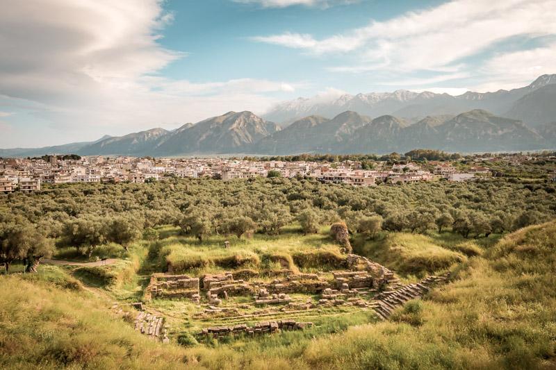 antikes sparta peloponnes griechenland