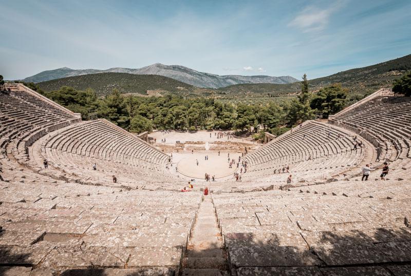 epidauros theater peloponnes griechenland