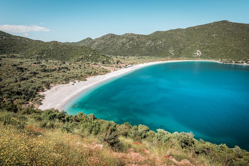 fokiano beach peloponnese greece