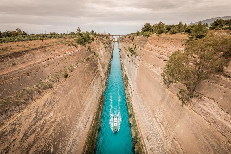 korinth kanal peloponnes griechenland