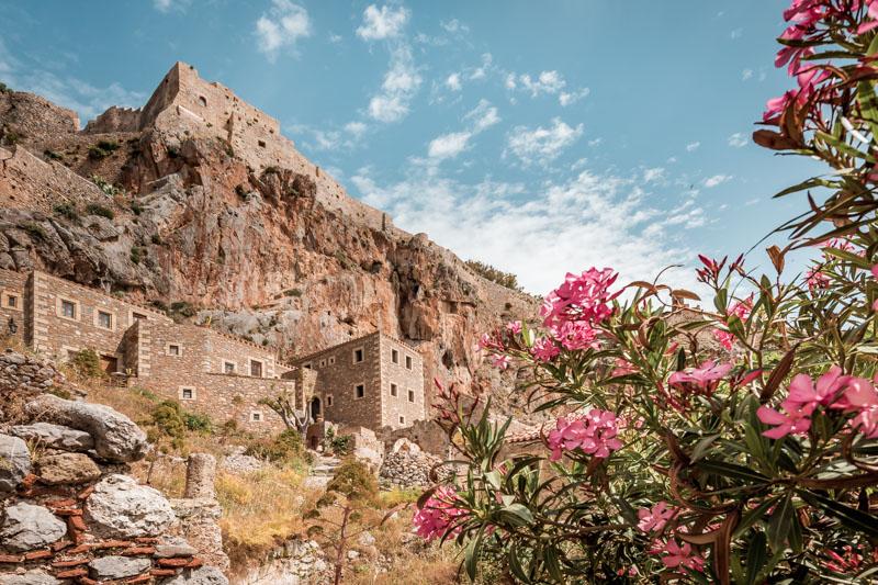 monemvasia castle peloponnese greece