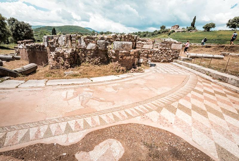 mosaiken messene griechenland
