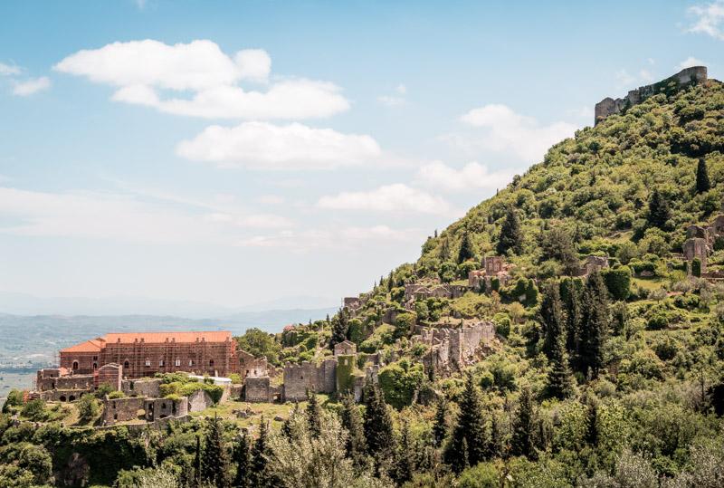 ruinenstadt mystras peloponnes