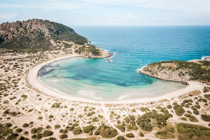 voidokilia beach peloponnes griechenland