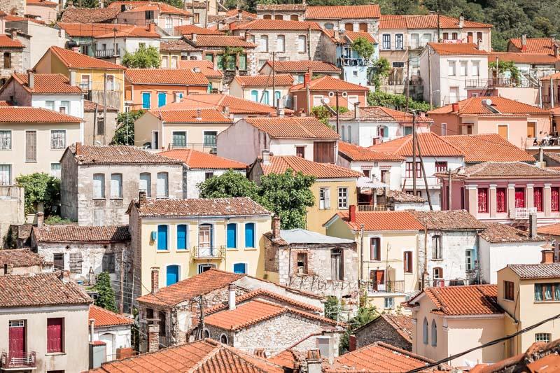 Lesvos agiassos village lesbos