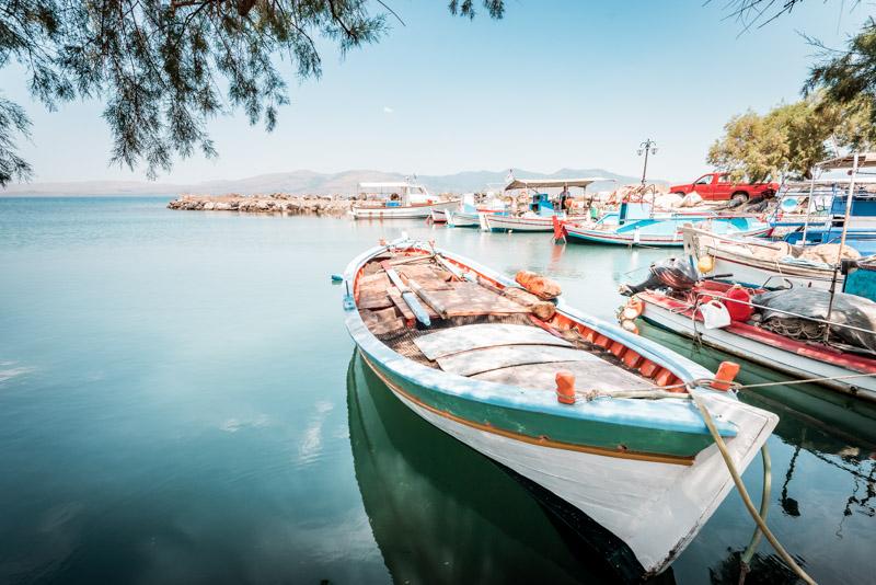 Lesvos fischerboote limani port lesbos