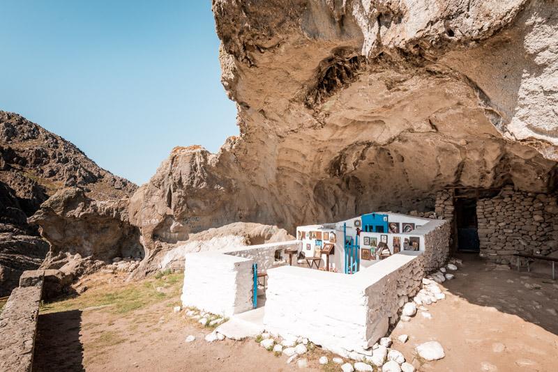 höhlenkirche kakaviotissa limnos griechenland