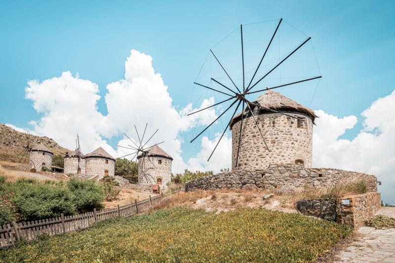 limnos windmühlen lemnos windmills