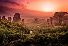 Ausflug Meteora Reisebericht Sonnenuntergang