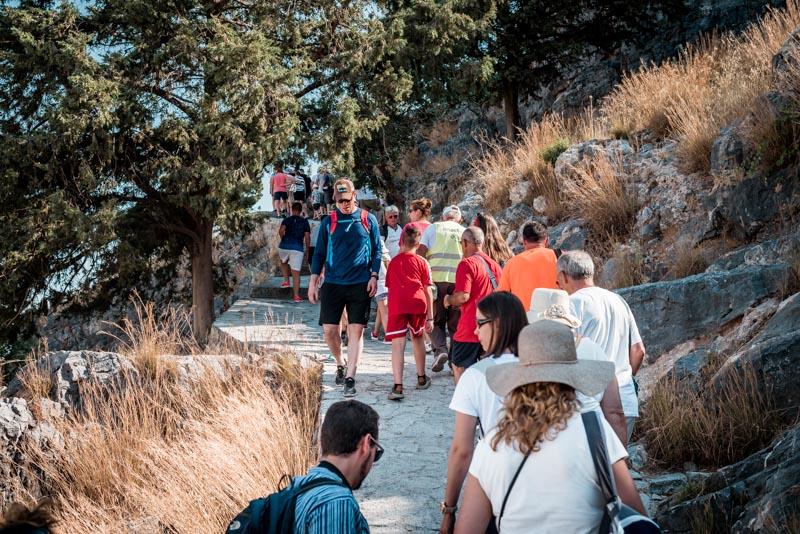 Lindos Akropolis Touristen