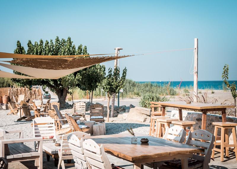 Rhodos afandou beach bar sundalia