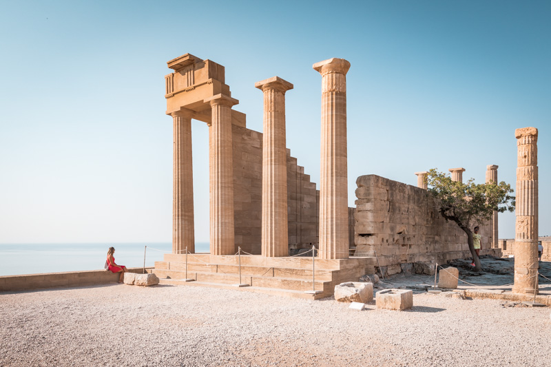 Rhodos lindos akropolis tempel athena lindia