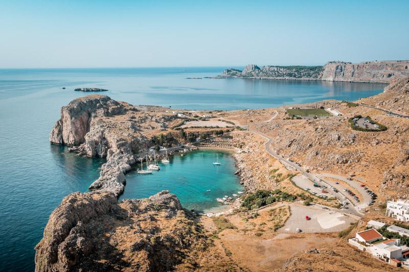 Rhodos strände apostel paulus bucht agios pavlos bay