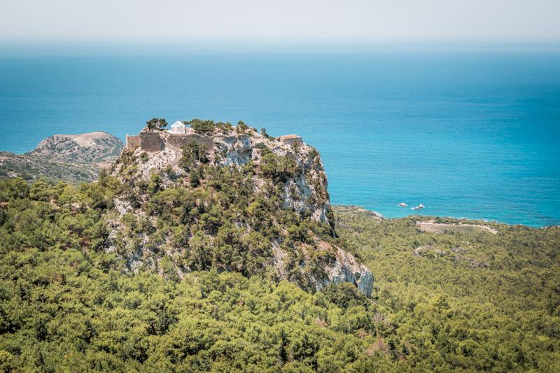 rhodos ausflüge burgruine monolithos