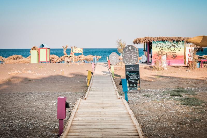 rhodos strände mojito beach bar