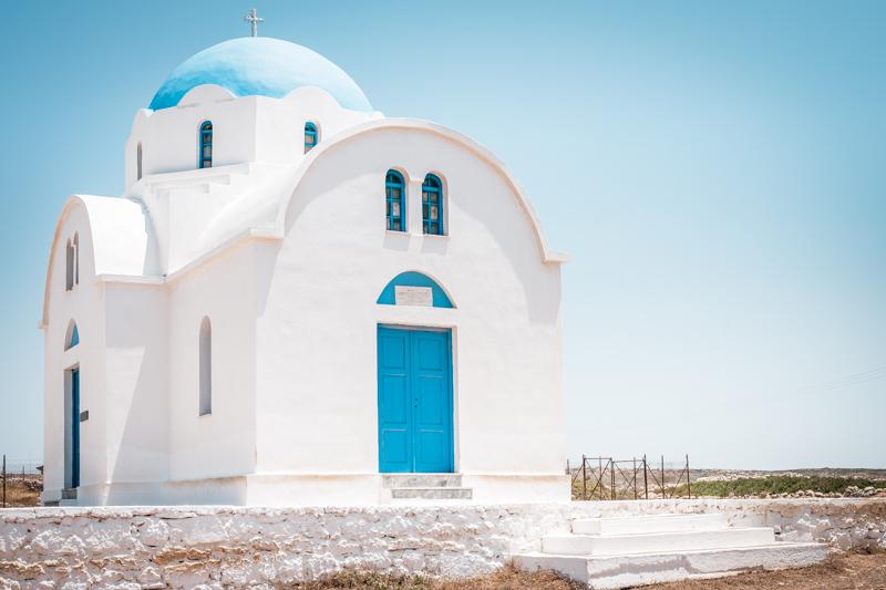 Blau Weiße Kirche Griechenland
