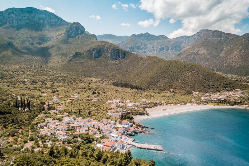 Griechenland Berge Meer