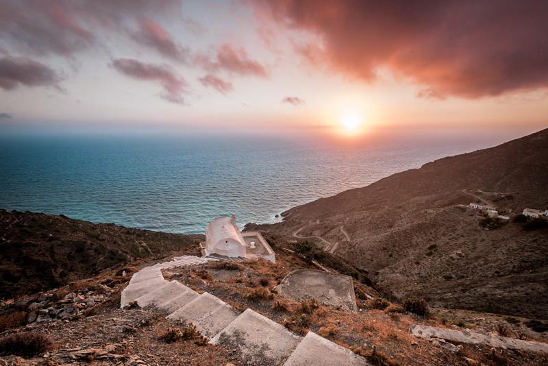 Schönster Sonnenuntergang Griechenland Olympos Karpathos