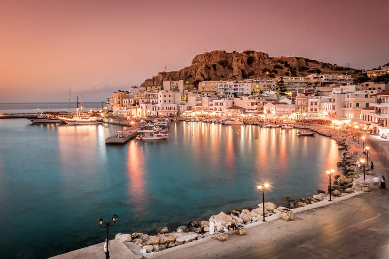 Sonnenuntergang Karpathos Griechenland Reiseziel
