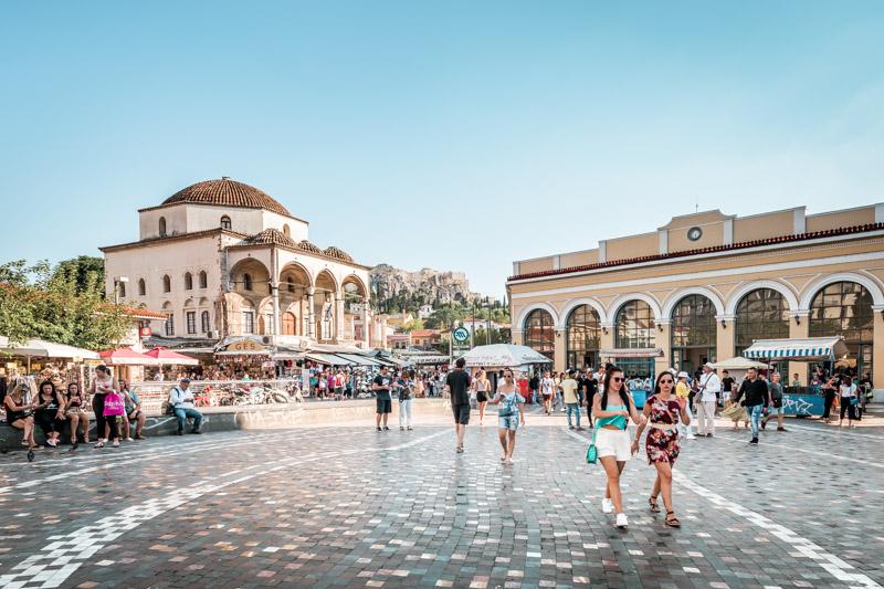 Athen Monastiraki Platz Stadtführung