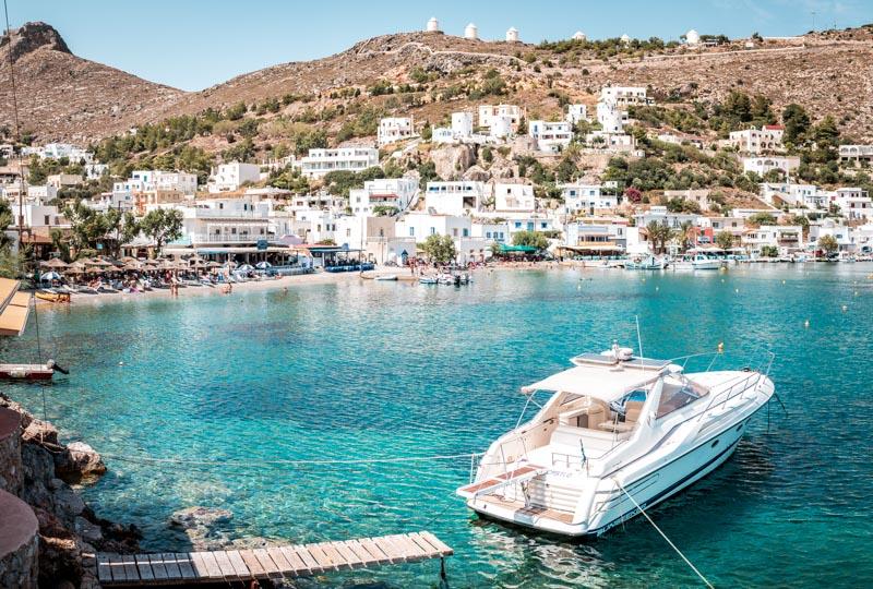 Beliebte Insel Segeln Yacht Griechenland Leros