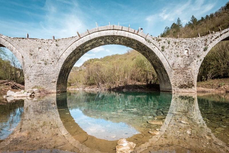 Epirus Steinbrücken Zagoria Region Ioannina