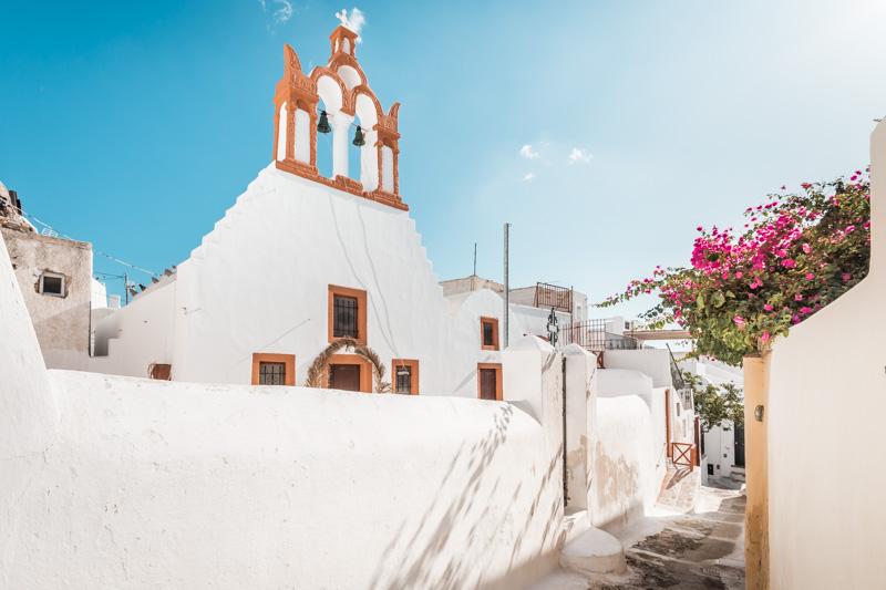 Griechenland Sehenswürdigkeiten Reiseziele Santorini Emporio
