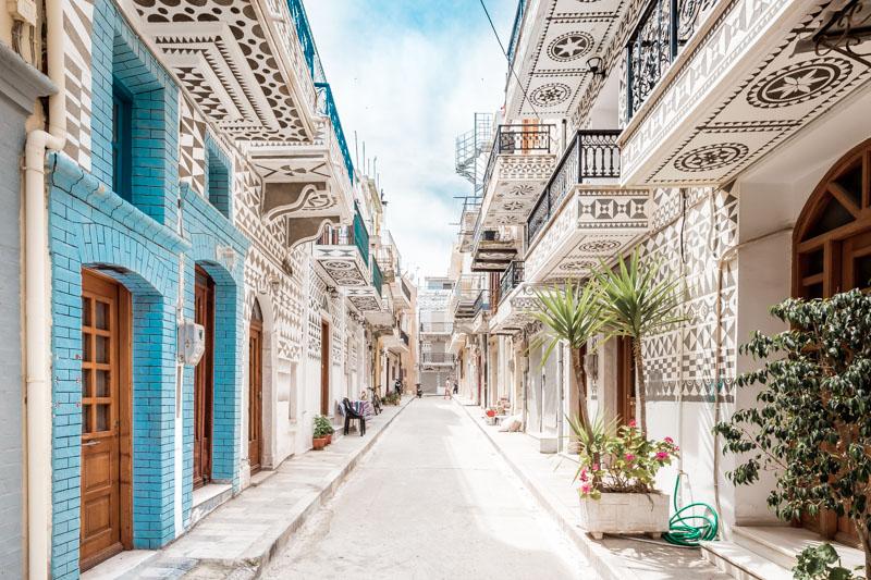 Griechische Inseln besondere Architektur Chios Pyrgi