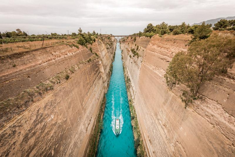 Kanal von Korinth Griechenland Sehenswürdigkeiten